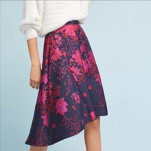 Anthropologie Eva Franco Asymmetrical Skirt